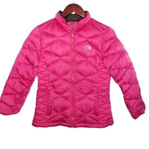 The North Face Pink Puffer Down Girls Winter Coat